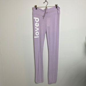 Dream Scene by Wildfox Purple Loved Sweatpants